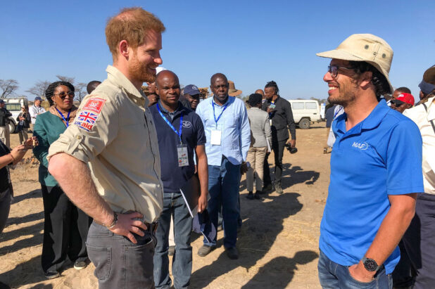 Le prince Harry fait l'éloge des services de la MAF